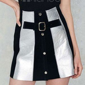 NEW After Party Nasty Gal Color Block Skirt